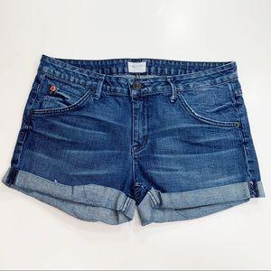 Hudson Croxley Cuffed Denim Shorts in EDM